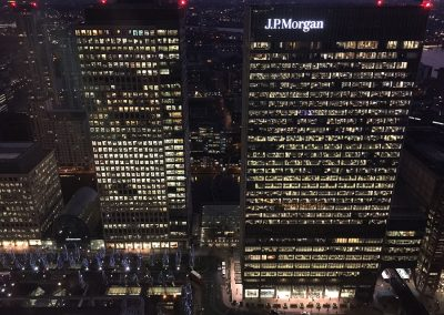 View from Level39 - London